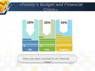 «Family's Budget and Financial Crisis». Have you been touched by the financial c