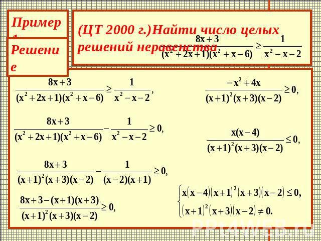 найти количество целых решений дробного неравенства домов Калининграде