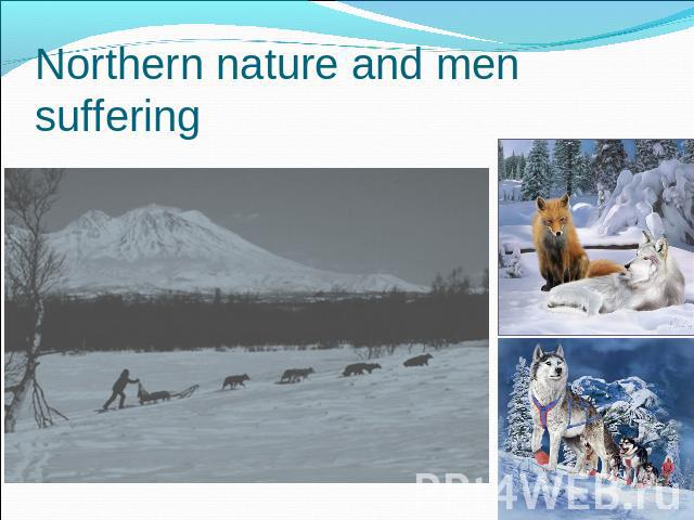 Northern nature and men suffering