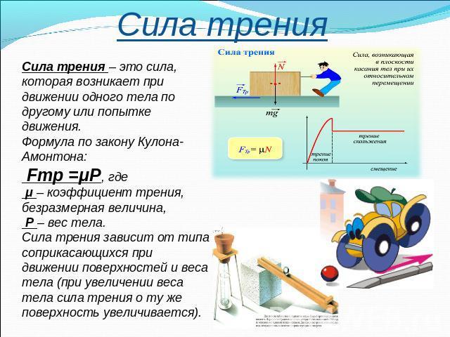 Реферат по физике на тему сила 1145