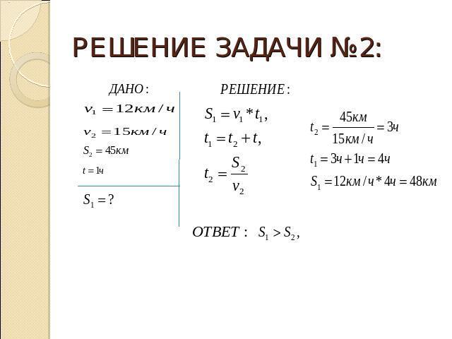 Решения задачи по физике 7 класс урок по теме решение примеров и задач