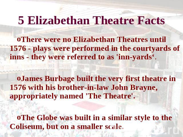 elizabethan theater essay History other essays: elizabethan theatre elizabethan theatre this essay elizabethan theatre and other 63,000+ term papers, college essay examples and free essays are available now on reviewessayscom.