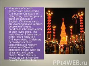Hundreds of church services are conducted in Chinese for Christians of Hong Kong