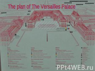 The plan of The Versailles Palace