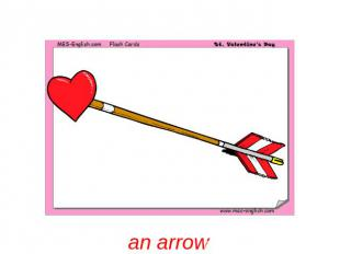 an arrow