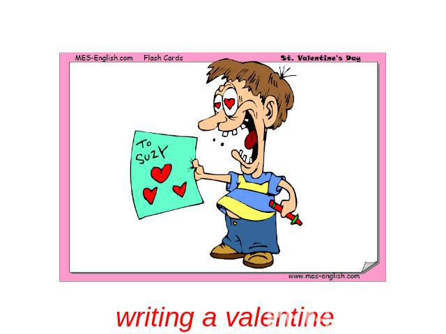 writing a valentine