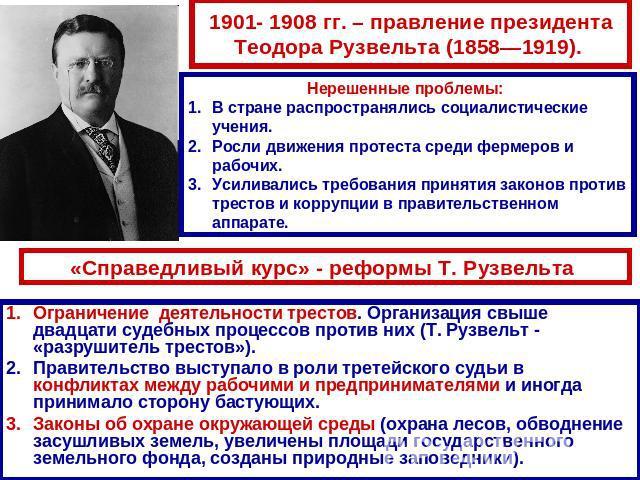 Что такое справедливый курс рузвельта в сша