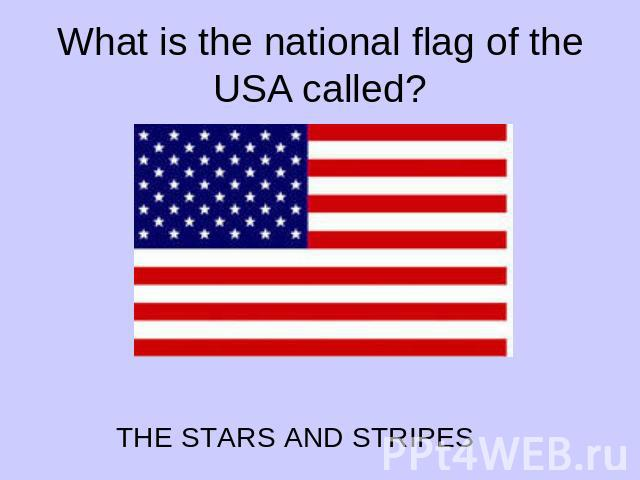 What is the national flag of the USA called?