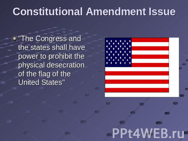 Constitutional Amendment Issue