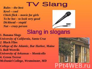 TV Slang Rules – the bestKewl – coolChick flick – movie for girlsTo be hot – to