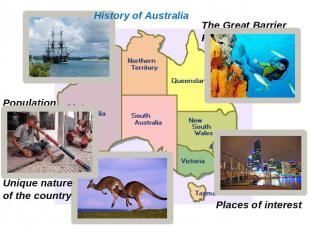 History of Australia Population Unique nature of the country The Great Barrier R