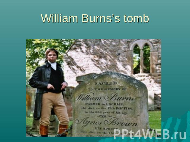 William Burns's tomb