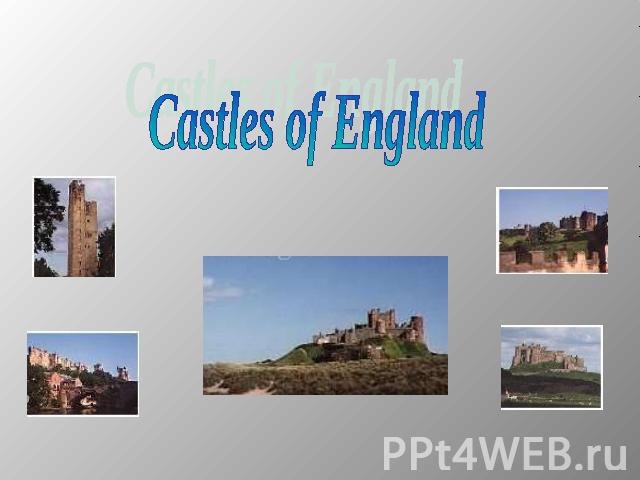 Castles of England