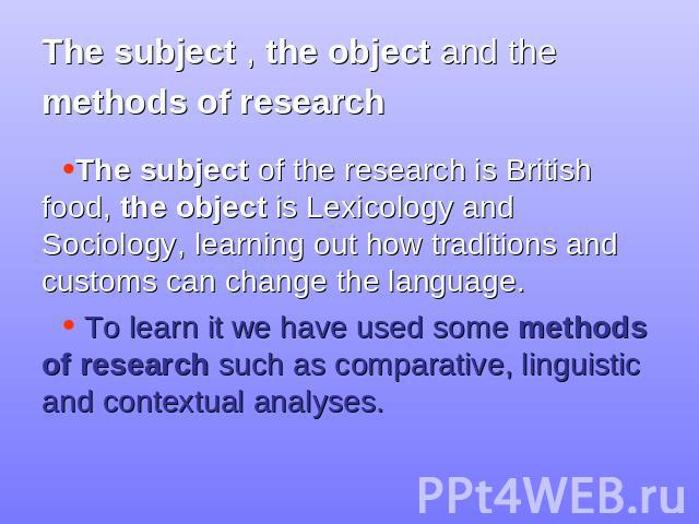 comparative lexicology