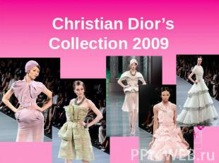 Christian Dior'sCollection 2009