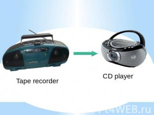 Tape recorder CD player