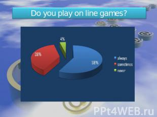 Do you play on line games?