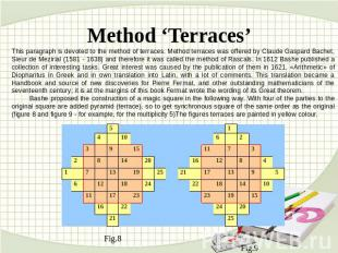 Method 'Terraces' This paragraph is devoted to the method of terraces. Method te