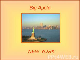 Big Apple NEW YORK