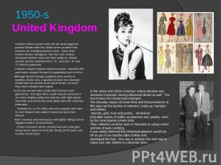 1950-sUnited Kingdom Fashion history would never be the same again for austere B