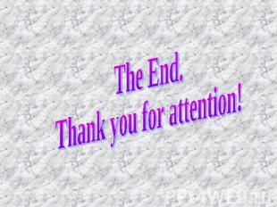The End.Thank you for attention!