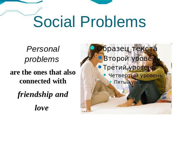 social problems in teenagers