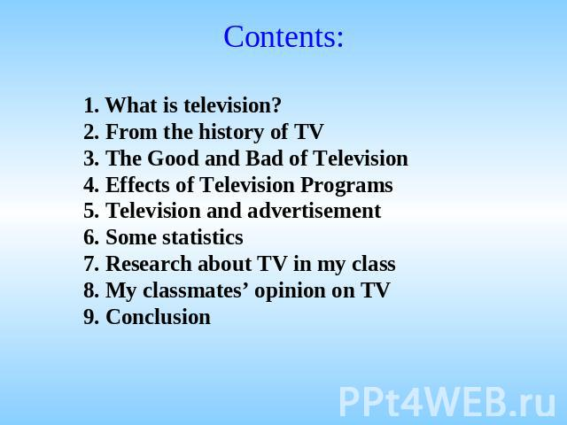 advantage and disadvantage of watching television essay