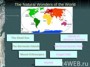 The Natural Wonders of the World