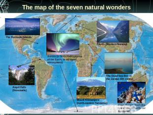 The map of the seven natural wonders
