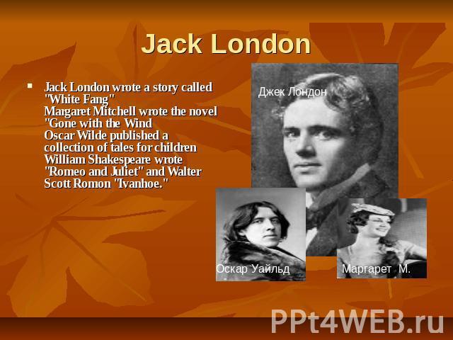 jack london biography