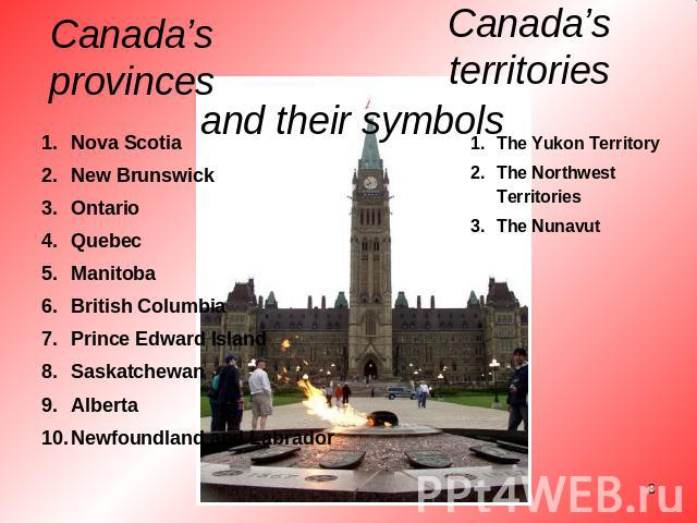 The State Symbols Of Canada