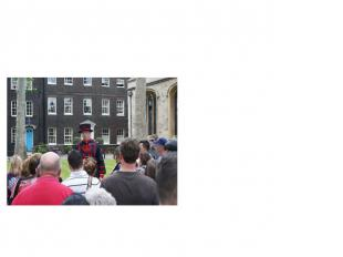 The Beefeaters The Beefeaters used to guard the Tower and its prisoners. Today,