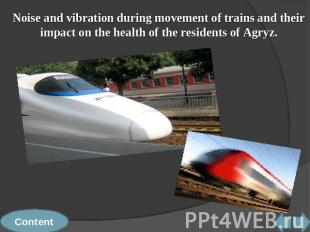 Noise and vibration during movement of trains and their impact on the health of