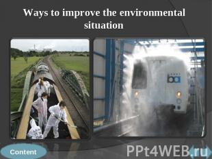 Ways to improve the environmental situation