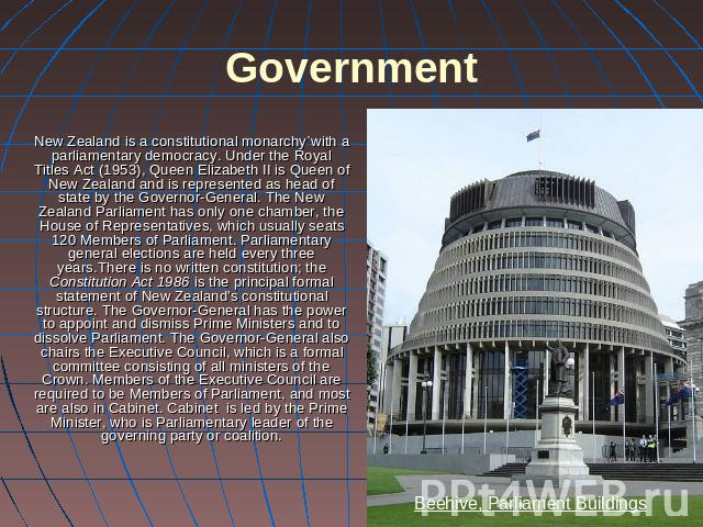 new zealands government drug policy How government works the different branches of government new zealand's 3 branches of government and decides policies which get put into practice by.