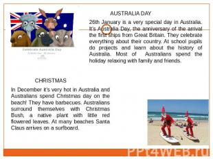 26th January is a very special day in Australia. It's Australia Day, the anniver