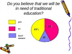 Do you believe that we will be in need of traditional education?