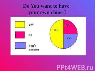 Do You want to have your own clone ?