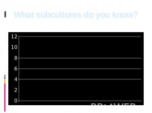 What subcultures do you know?