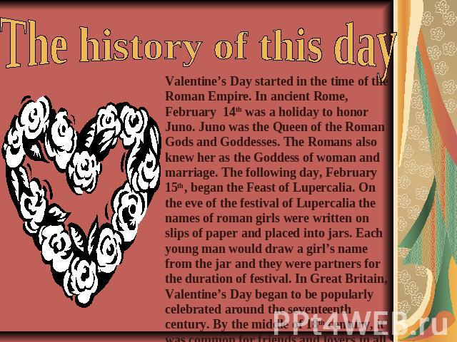 valentines roman empire and valentine