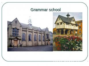 Grammar school Those who got the best results at this exam (about 20 per cent) w