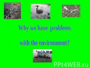 Why we have problems with the environment?