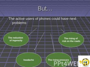 But…The active users of phones could have next problems: The reduction of ingenu