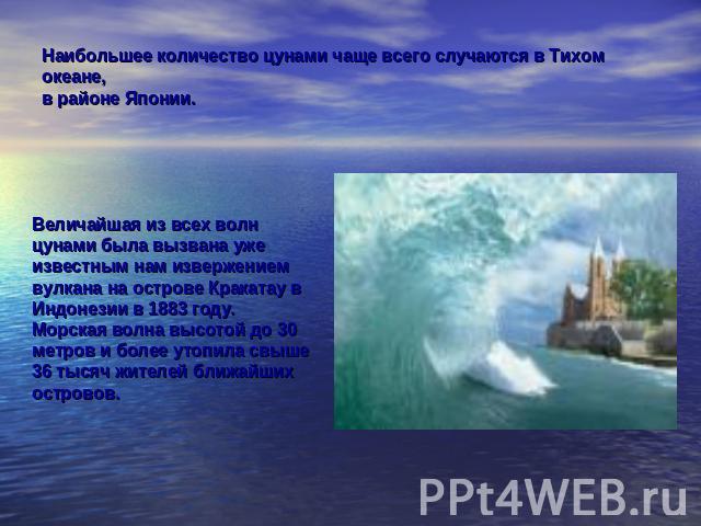 Доклад на тему волна в океане 6 класс