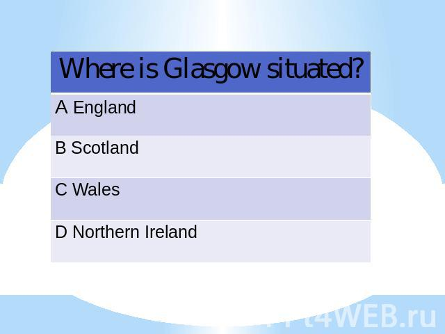 Where is Glasgow situated?