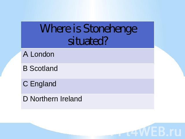 Where is Stonehenge situated?