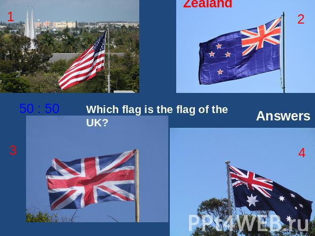 Which flag is the flag of the UK? Answers