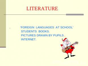 LITERATURE . 'FOREIGN LANGUAGES AT SCHOOL' STUDENTS BOOKS. PICTURES DRAWN BY PUP
