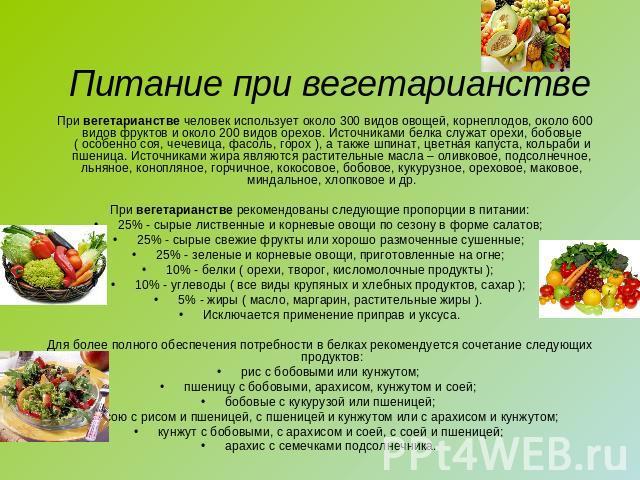 Вегетарианская белковая диета