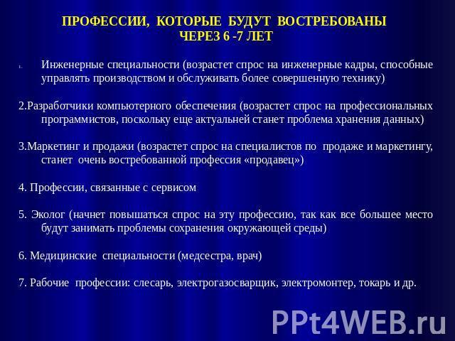 администрации Петропавловск-Камчатского какие профессии исчезнут через 10 лет одиночества является обязательным